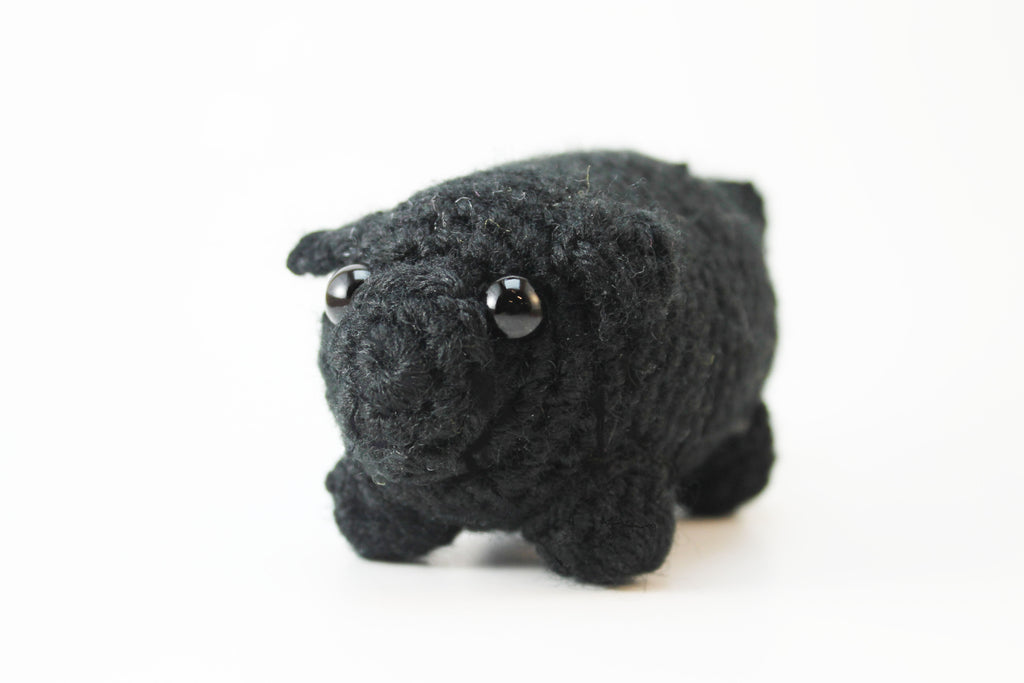 Amigurumi Black Pug || Adorable || Crochet || Handmade