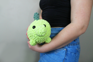 Plush Dinosaur Stegosaurus Amigurumi Log Animal! Soft as a blanket, handmade and machine washable!