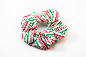 Christmas Candy Cane Scrunchie