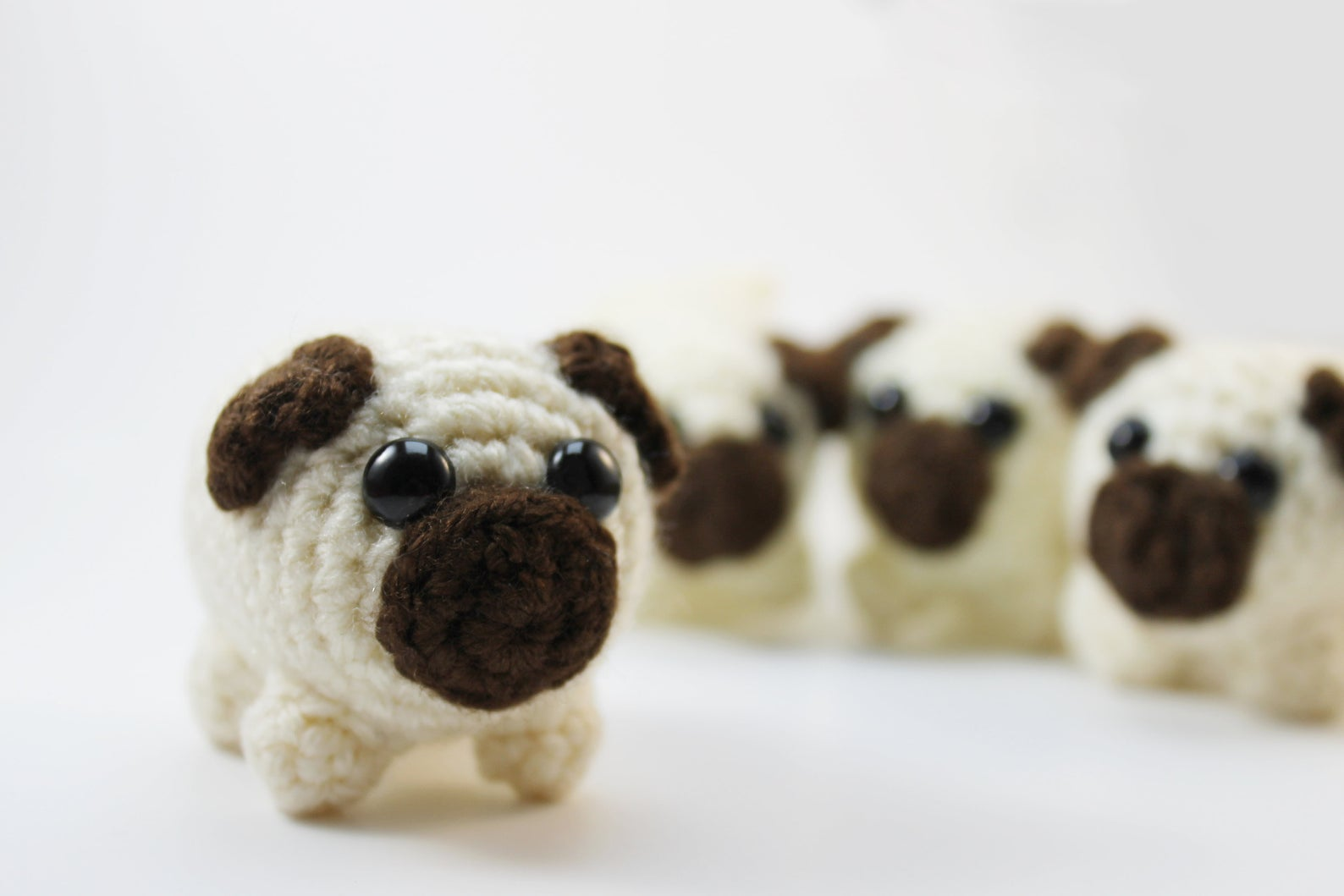 Amigurumi Pug Plush Small