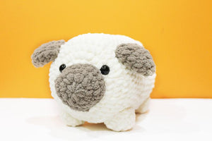 Amigurumi Pug Plush Large