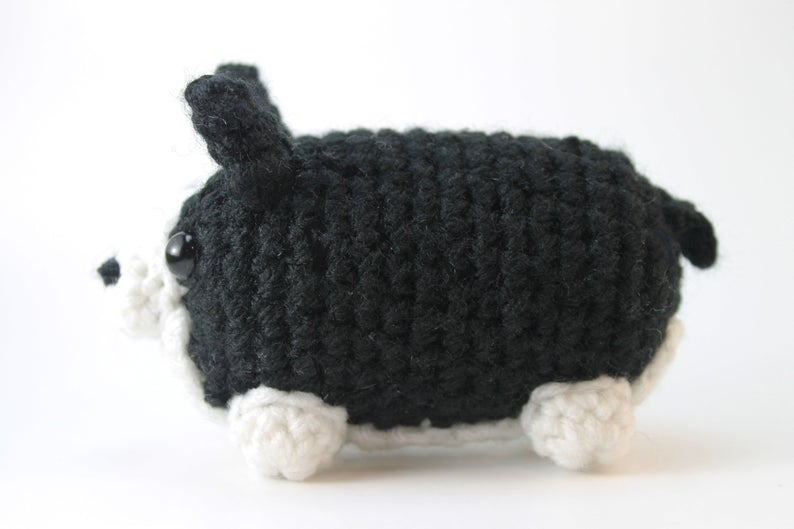 Amigurumi Boston Terrier Plush Small