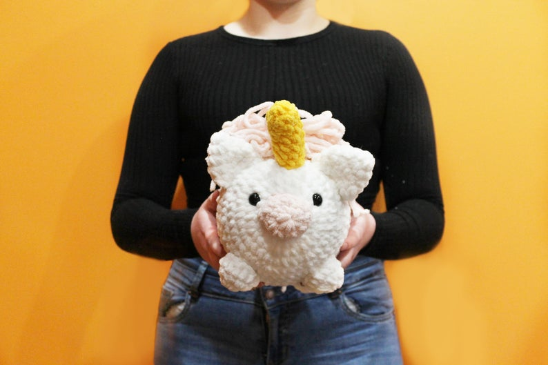 Amigurumi Unicorn Plush Large