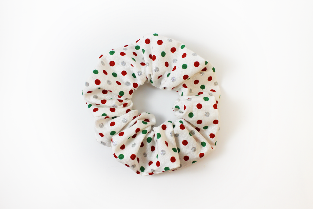 Christmas Polkadot Scrunchie