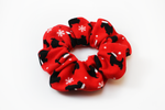 Christmas Dogs with Santa Hats Scrunchie