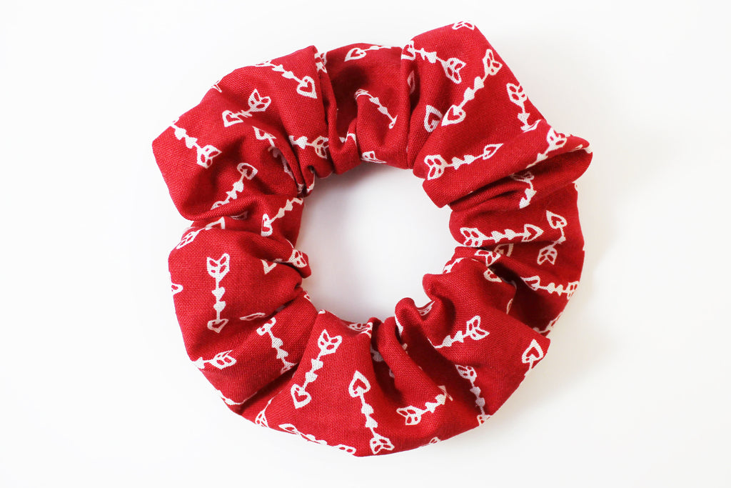 Red with Arrows Valentine's Day Scrunchie