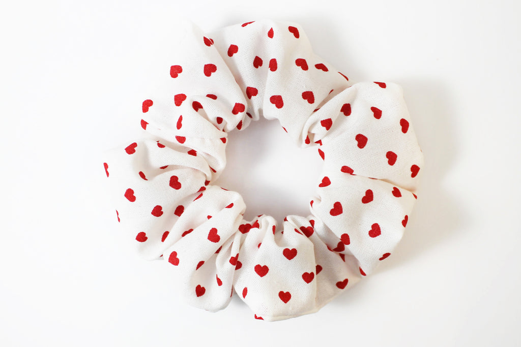 Red Hearts Valentine's Day Scrunchie