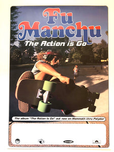 FU MANCHU - The action is go - Promo (affiche/poster)