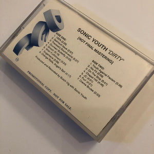 SONIC YOUTH - Dirty advance cassette (cassette)