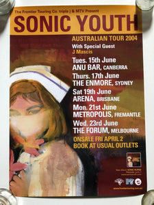 "SONIC YOUTH ""Sonic Nurse"" Australian Tour 2004 (affiche/poster)"