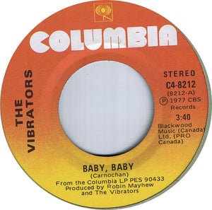 The Vibrators -Baby, Baby/Sex Kick 7""