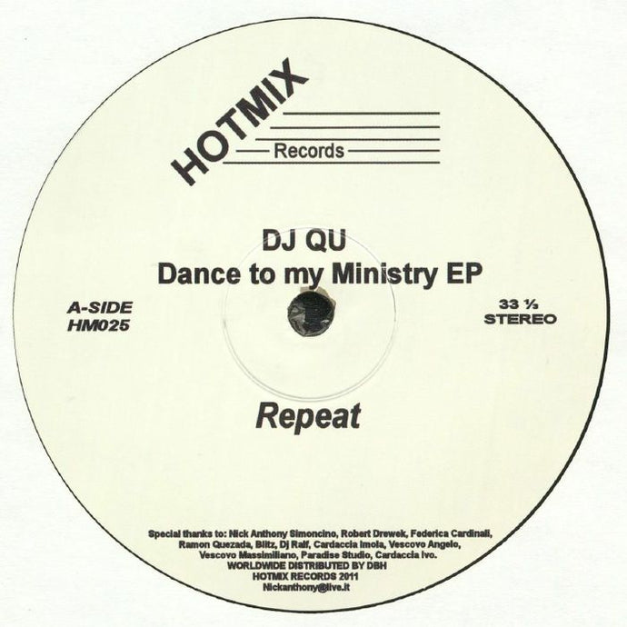 Dance To My Ministry EP