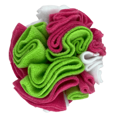 Pink Daisy snuffle ball by pet boutique