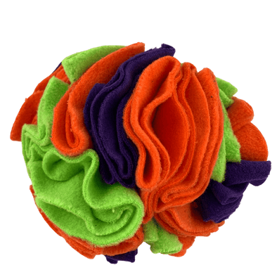 Orange marigold snuffle ball by pet boutique