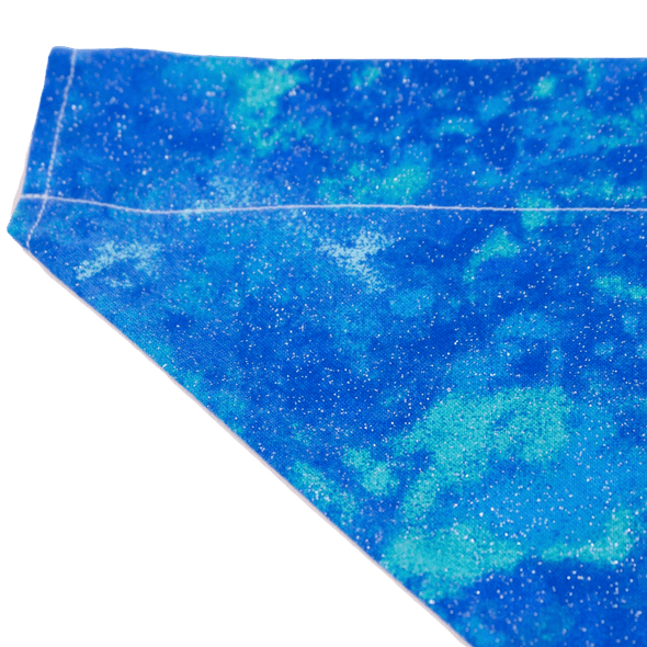 Dog Bandanas - Glittering Blue Clouds