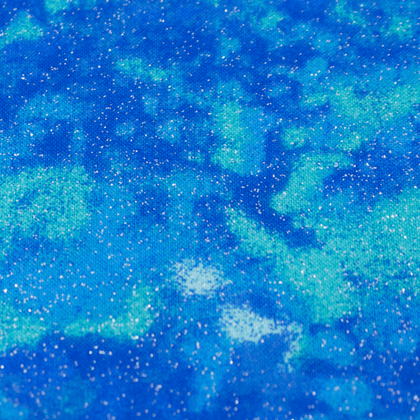 GLittering Blue Clouds Dog Bandanas Close up