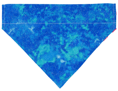 Glittering Blue Clouds Dog Bandana