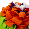 Orange marigold snuffle mat side view  by pet boutique nz