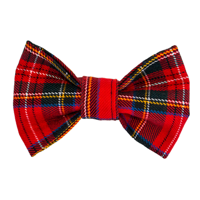Dog Bow Tie Red plaid by pet boutique