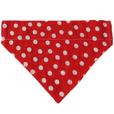 Dog Bandanas - Polka Dots - Bright Red