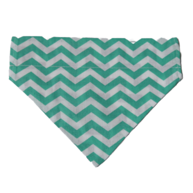 Dog Bandanas - Chevron - Mint Green