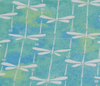 Dog Bandana NZ - Aquamarine Dragonfly pattern close up