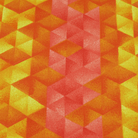 Dog Bandanas - Geometric Orange