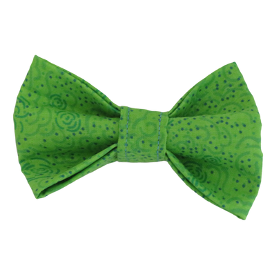 Lime Green dot dog bow tie by Pet Boutique NZ