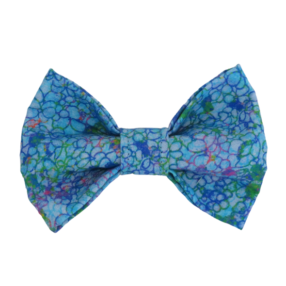 Turquoise swirl dog bow tie by pet boutique
