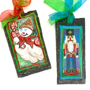 Recycled Slate Ornaments
