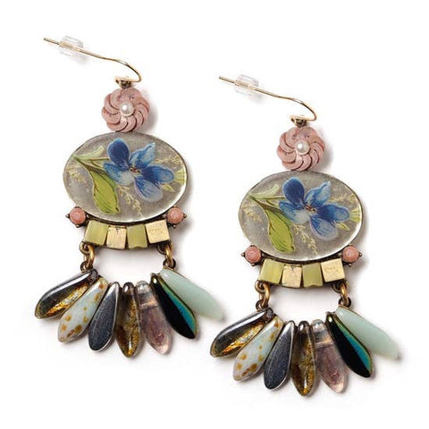 Floral Statement Earrings