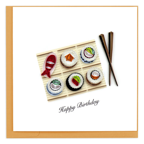 Quilled Sushi Birthday Card