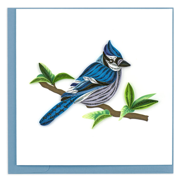 Quilled Blue Jay Greeting Card