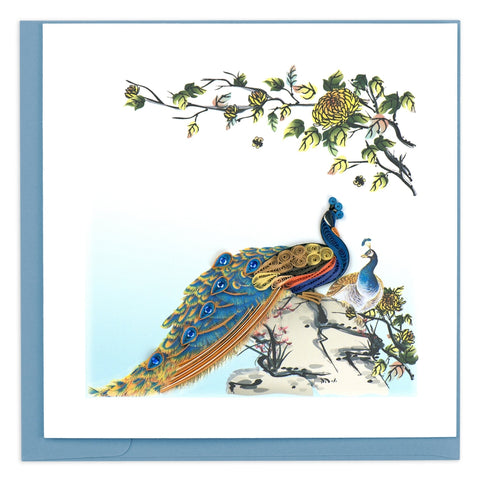 Quilled Peacock Greeting Card