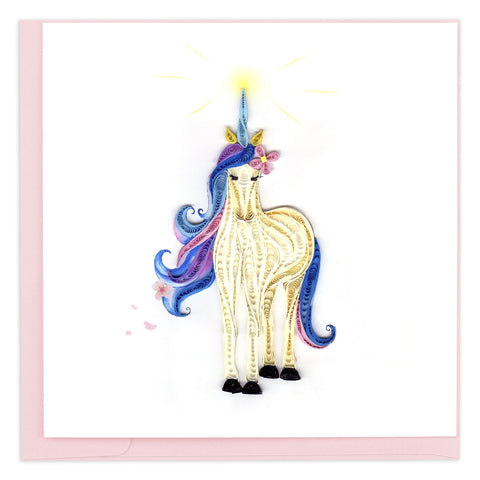 Quilled Unicorn Greeting Card