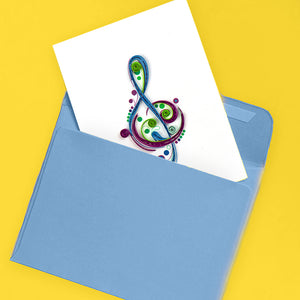 Quilled Music Note Gift Card