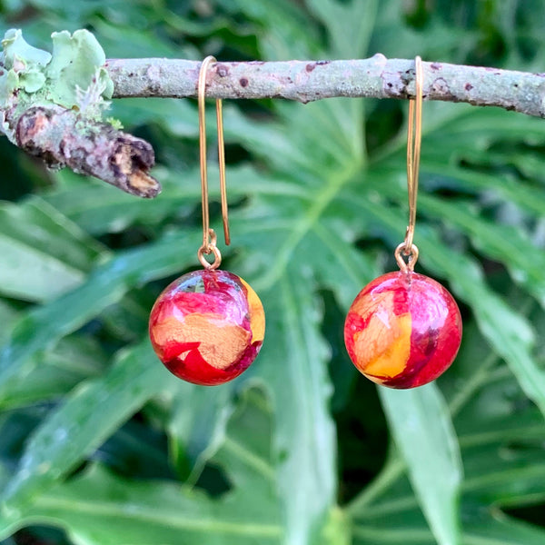 Rose Petal Drop Earrings