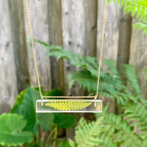 Tiny Fern Bar Necklace