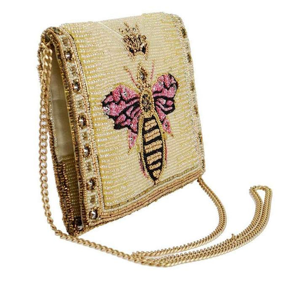 """Queen Bee"" Beaded Handbag by Mary Frances"