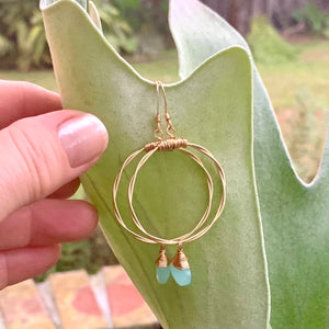Briolette Hoop Earrings