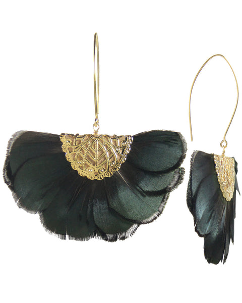 Feather Fan Earrings