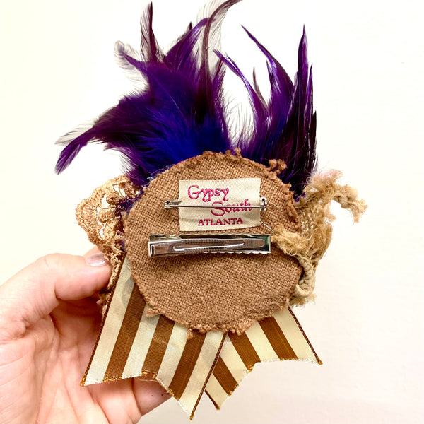 Vintage Inspired Feather Hair Clips