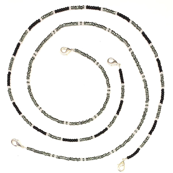 Silver Bead Mask Chains