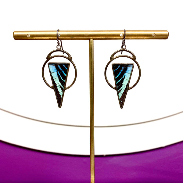 Orbital Node Butterfly Earrings