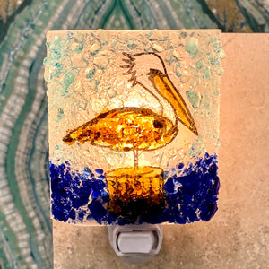 Recycled Glass Night Light - Pelican