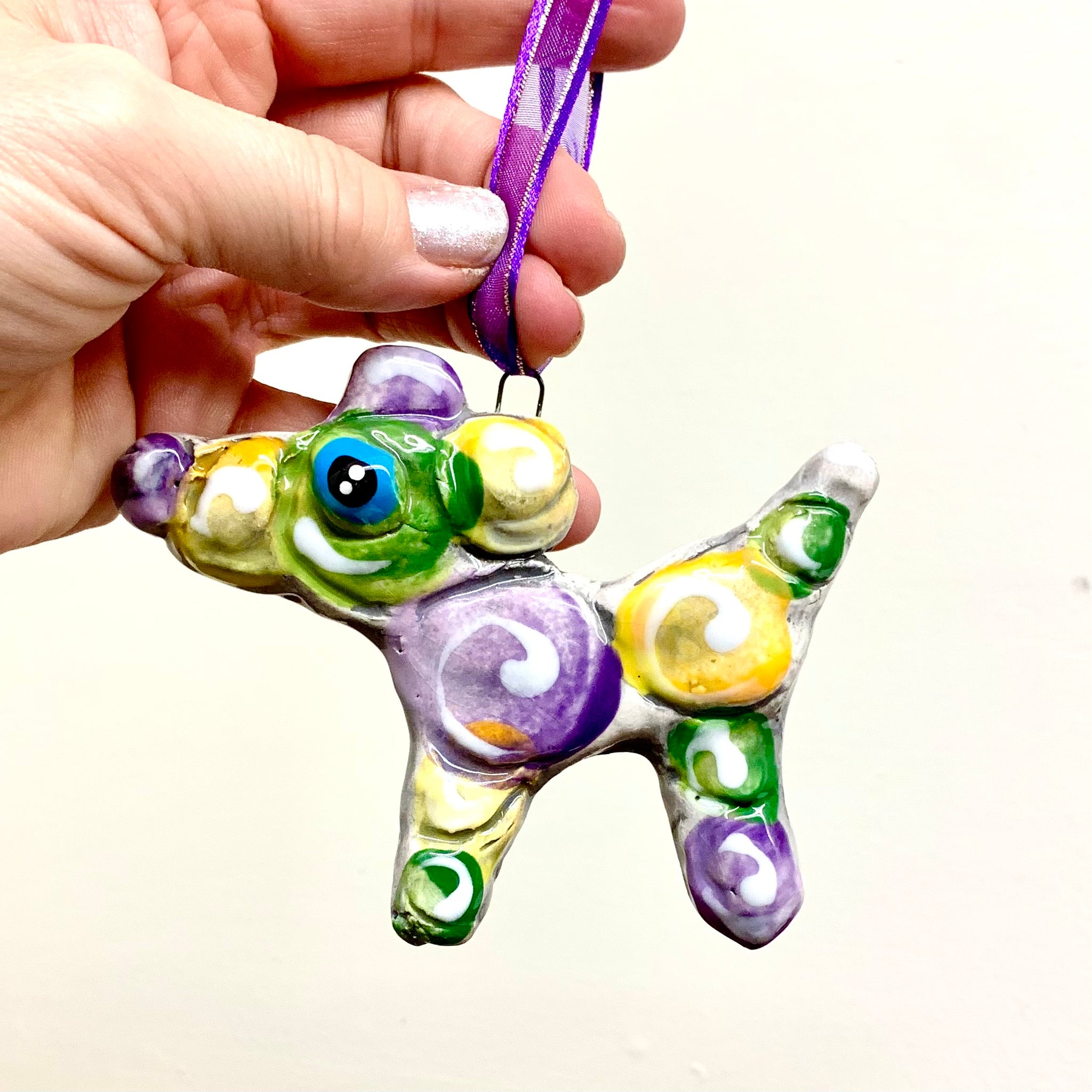 NOLA Bead Dog Ornament