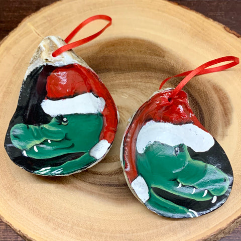 Alligator Oyster Shell Ornaments