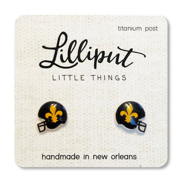 Fleur de Lys Helmet Earrings