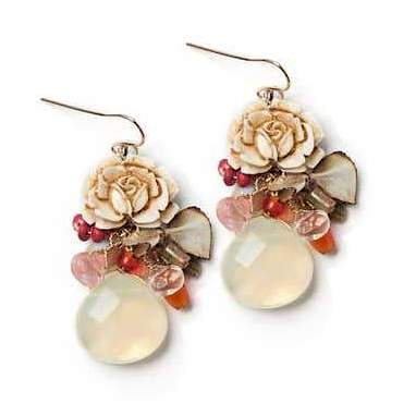 Rustic Rose Vintage Inspired Earrings