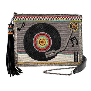 """Take A Spin"" Beaded Record Player Handbag by Mary Frances"